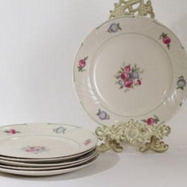 Arabia Tellervo lautaset, matala, 6 kpl, suunnittelija , matala, siirtokuva
