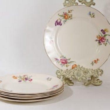 Arabia Kesäkukka lautaset, matala, 6 kpl, suunnittelija , matala, siirtokuva