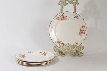 Arabia Kesäkukka lautaset, pieni, 5 kpl, suunnittelija , pieni, siirtokuva