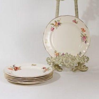 Arabia Kesäkukka lautaset, pieni, 6 kpl, suunnittelija , pieni, siirtokuva