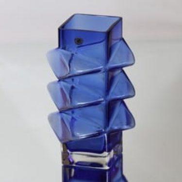 Riihimäen lasi Pablo maljakko, ultramariinin sininen, suunnittelija Erkkitapio Siiroinen,