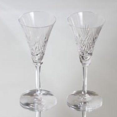 Riihimäen lasi Yrjö lasit, kirkas, 2 kpl, suunnittelija ,