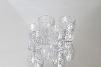 Iittala Aslak lasit, 6 cl, 4 kpl, suunnittelija Tapio Wirkkala, 6 cl, pieni