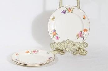 Arabia Kesäkukka lautaset, 3 kpl, suunnittelija , pieni, siirtokuva