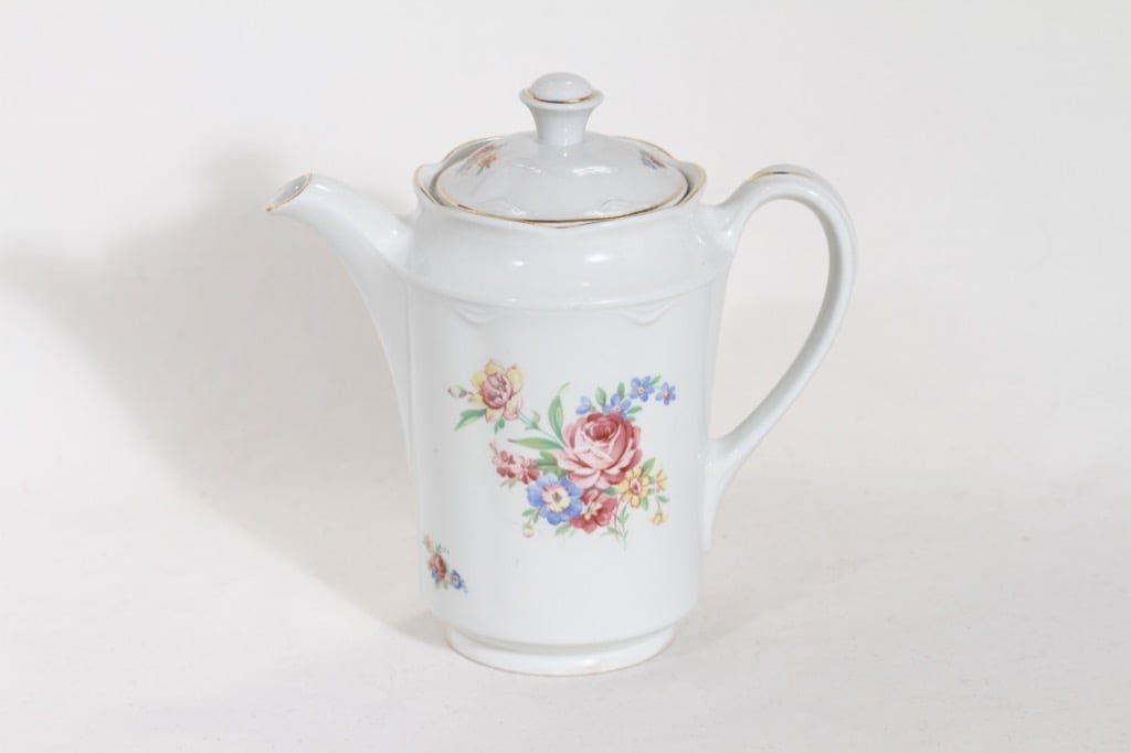 Arabia FQ kahvikaadin, kukkakuvio, suunnittelija , kukkakuvio, siirtokuva, 1 l