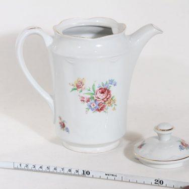 Arabia FQ kahvikaadin, kukkakuvio, suunnittelija , kukkakuvio, siirtokuva, 1 l kuva 2