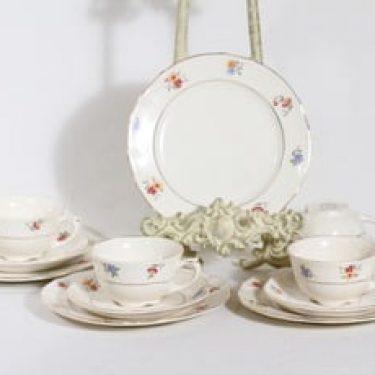 Arabia Sirkka kahvikupit ja lautaset, 4 kpl, suunnittelija Esteri Tomula, siirtokuva