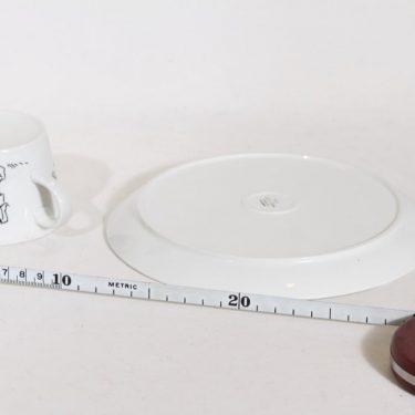 Arabia BA|BT kuppi ja lautanen, suunnittelija , serikuva, tilattu koriste kuva 3
