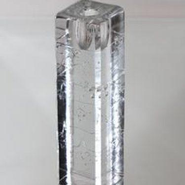 Iittala Arkipelago kynttilänjalka, kirkas, suunnittelija Timo Sarpaneva, massasigneerattu