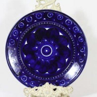 Arabia Valencia lautanen, käsinmaalattu, suunnittelija Ulla Procope, käsinmaalattu, signeerattu