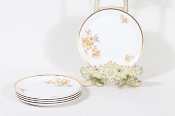 Arabia Myrna lautaset, 5 kpl, suunnittelija Olga Osol, pieni, serikuva