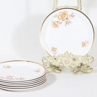 Arabia Myrna lautaset, 7 kpl, suunnittelija Olga Osol, pieni, serikuva