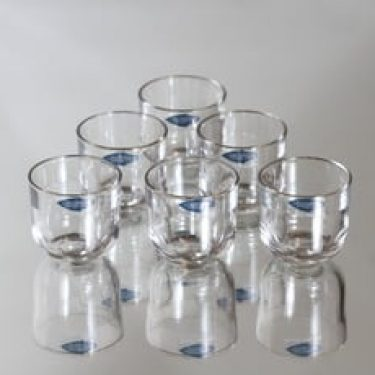 Nuutajärvi Fasetti lasit, 5 cl, 6 kpl, suunnittelija Kaj Franck, 5 cl, pieni