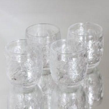 Nuutajärvi Rosita lasit, 17 cl, 4 kpl, suunnittelija Kerttu Nuutajärvi, 17 cl, pieni