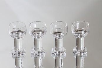 Iittala Maaru lasit, 5 cl, 4 kpl, suunnittelija Tapio Wirkkala, 5 cl, pieni