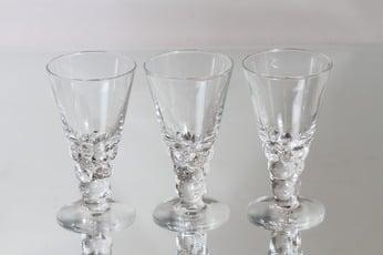 Nuutajärvi Mukura / Paratiisi lasit, 18 cl, 3 kpl, suunnittelija Oiva Toikka, 18 cl
