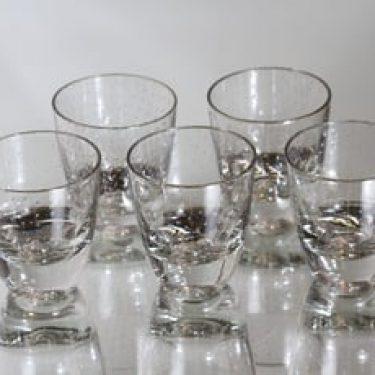 Nuutajärvi Pore lasit, 8 cl, 5 kpl, suunnittelija Gunnel Nyman, 8 cl, pieni