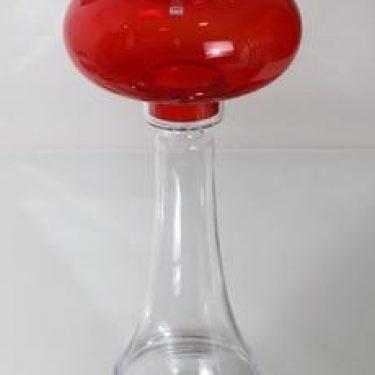 Riihimäen lasi Majakka kynttilälyhty, rubiininpunainen, suunnittelija Nanny Still, suuri