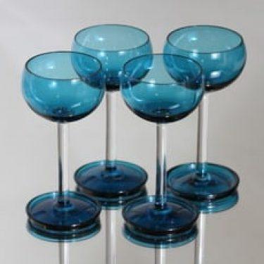 Riihimäen lasi Harlekiini viinilasit, 10 cl, 4 kpl, suunnittelija Nanny Still, 10 cl