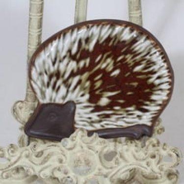 Arabia Siili koristelaatta, käsinmaalattu, suunnittelija Gunvor Olin-Grönqvist, käsinmaalattu, pieni, signeerattu