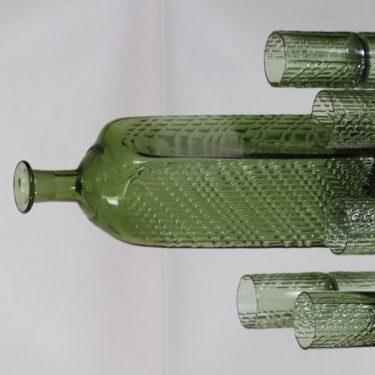 Riihimäen lasi Flindari karahvi ja lasit, oliivinvihreä, 5 kpl, suunnittelija Nanny Still, suuri kuva 2