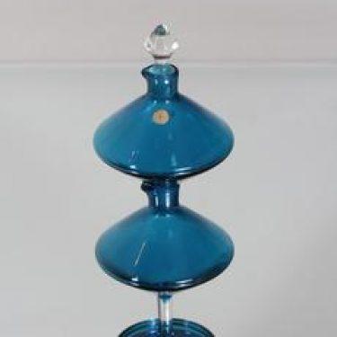 Riihimäen lasi Harlekiini etikka- ja öljykarahvi, 2-osainen, suunnittelija Nanny Still, 2-osainen