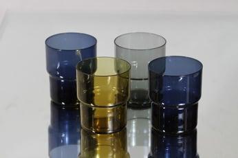 Nuutajärvi Pinottava lasi lasit, 25 cl, 4 kpl, suunnittelija Saara Hopea, 25 cl