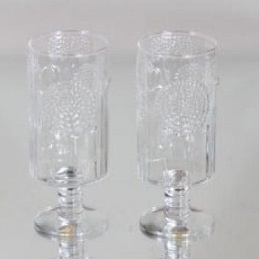 Nuutajärvi Flora lasit, 25 cl, 2 kpl, suunnittelija Oiva Toikka, 25 cl