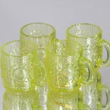 Riihimäen lasi Grapponia kupit, 10 cl, 4 kpl, suunnittelija Nanny Still, 10 cl