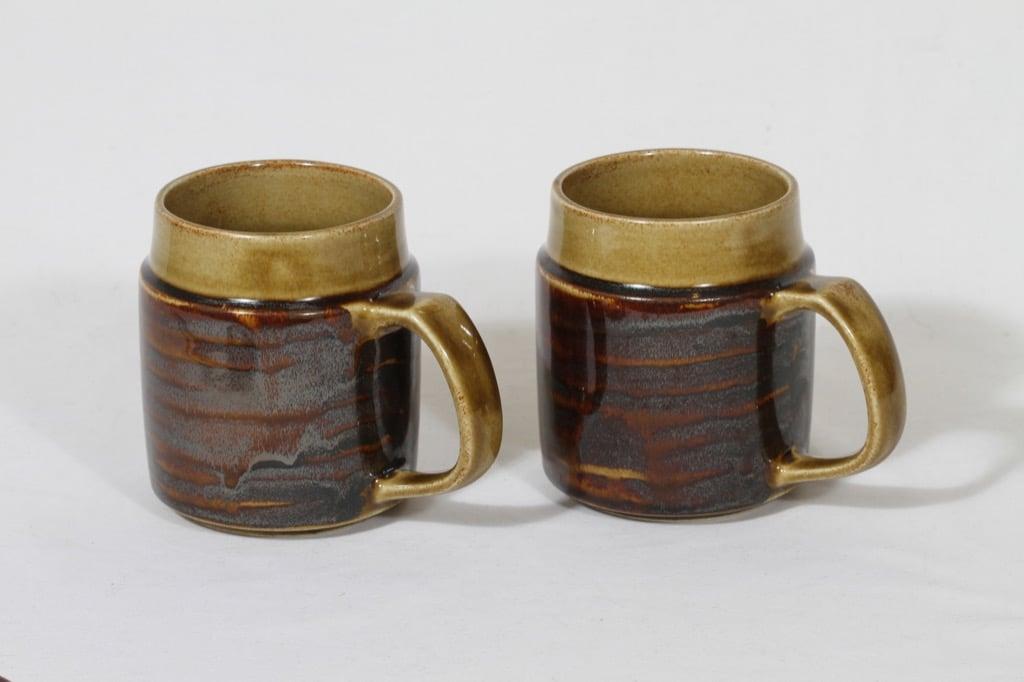 Arabia Okra tuopit, 63 cl, 2 kpl, suunnittelija , 63 cl, käsinmaalattu