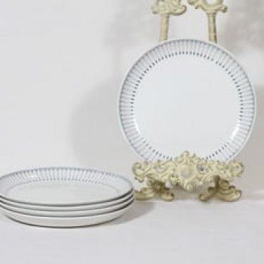Arabia Heini lautaset, pieni, 5 kpl, suunnittelija Raija Uosikkinen, pieni, kuparipainokoriste