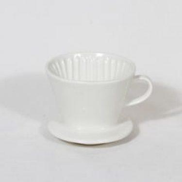Arabia KS 1 kahvisuodatin, valkoinen, suunnittelija , pieni, koristelematon