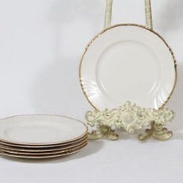 Arabia Kultakoriste leivoslautaset, 6 kpl, suunnittelija , kullattu