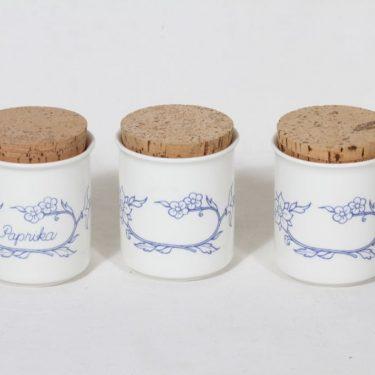 Arabia Sininen keittiö maustepurkit, 3 kpl, suunnittelija , serikuva