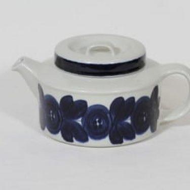 Arabia Anemone teekaadin, käsinmaalattu, suunnittelija Ulla Procope, käsinmaalattu, signeerattu