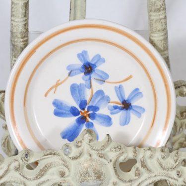 Kupittaan savi decorative plate, hand-painted, small, signed