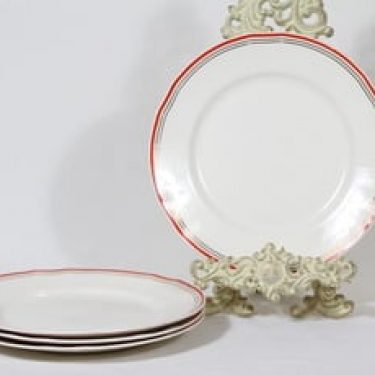 Arabia Martta lautaset, matala, 4 kpl, suunnittelija , matala, raitakoriste