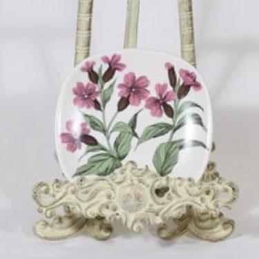 Arabia Botanica koristelautanen, Puna-ailakki, suunnittelija Esteri Tomula, Puna-ailakki, pieni, serikuva