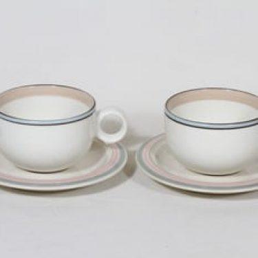 Arabia Päivi kahvikupit, 2 kpl, suunnittelija , raitakoriste