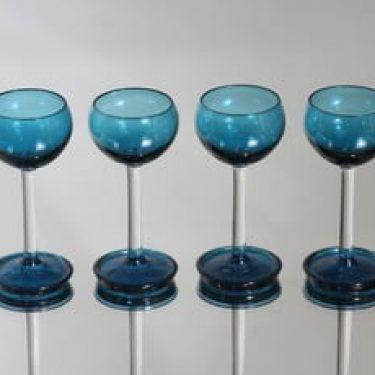 Riihimäen lasi Harlekiini liköörilasit, 3 cl, 4 kpl, suunnittelija Nanny Still, 3 cl