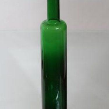 Riihimäen lasi Koristepullo, vihreä, suunnittelija Nanny Still,
