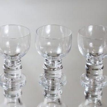 Nuutajärvi Herttua lasit, 9 cl, 3 kpl, suunnittelija Heikki Orvola, 9 cl, pieni