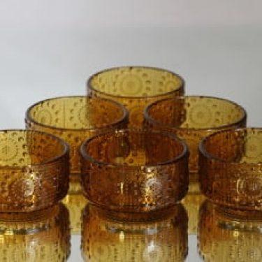 Riihimäen lasi Grapponia annoskulhot, 18 cl, 6 kpl, suunnittelija Nanny Still, 18 cl