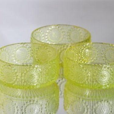 Riihimäen lasi Grapponia kulhot, keltainen, 3 kpl, suunnittelija Nanny Still,