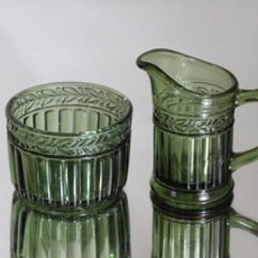 Riihimäen lasi Kara sokerikko ja kermakko, vihreä, suunnittelija ,