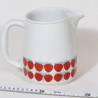 Arabia Pomona kaadin, mansikka, suunnittelija Raija Uosikkinen, mansikka, 1 l, serikuva, retro kuva 2
