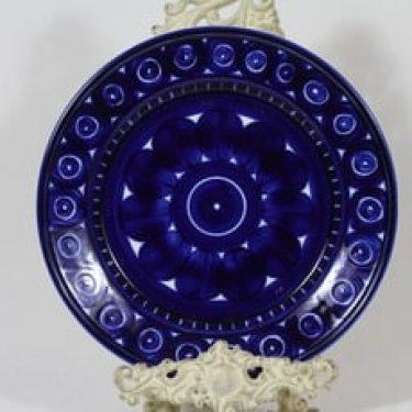 Arabia Valencia lautanen, matala, suunnittelija Ulla Procope, matala, käsinmaalattu, signeerattu