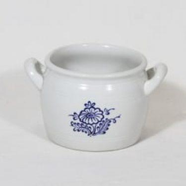 Arabia B 1 ruukku, 1 l, suunnittelija , 1 l, kobolttimaalattu, kukkakuvio