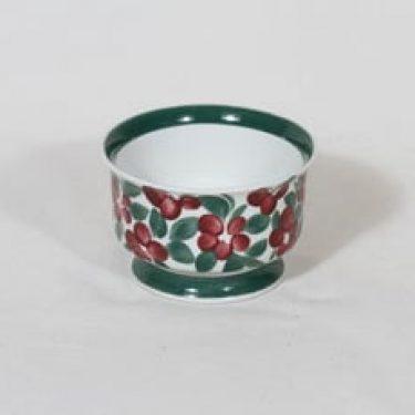 Arabia Purpuri-jenkka sokerikko, käsinmaalattu, suunnittelija Ulla Procope, käsinmaalattu, signeerattu