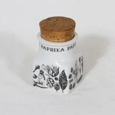 Arabia maustekuvio maustepurkki, paprika, suunnittelija Esteri Tomula, paprika
